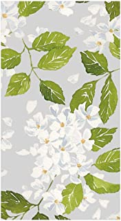 Caspari Blanc De Blancs Paper Guest Towel Napkins in Grey, Pack of 15