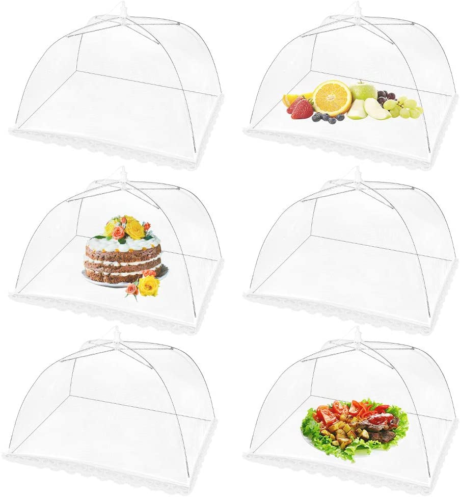 VICKMALL 6 Pack Pop-Up Food High quality Cover Ranking TOP10 Outdoor Inches 17 Tent x