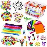 Kit de Manualidades para Niños, Pipe Cleaners Crafts Set Pompones Ojos Manualidades Juego Creativo Regalo para Craft Juego Creativo Regalo para DIY Craft Art Supplies (style1)