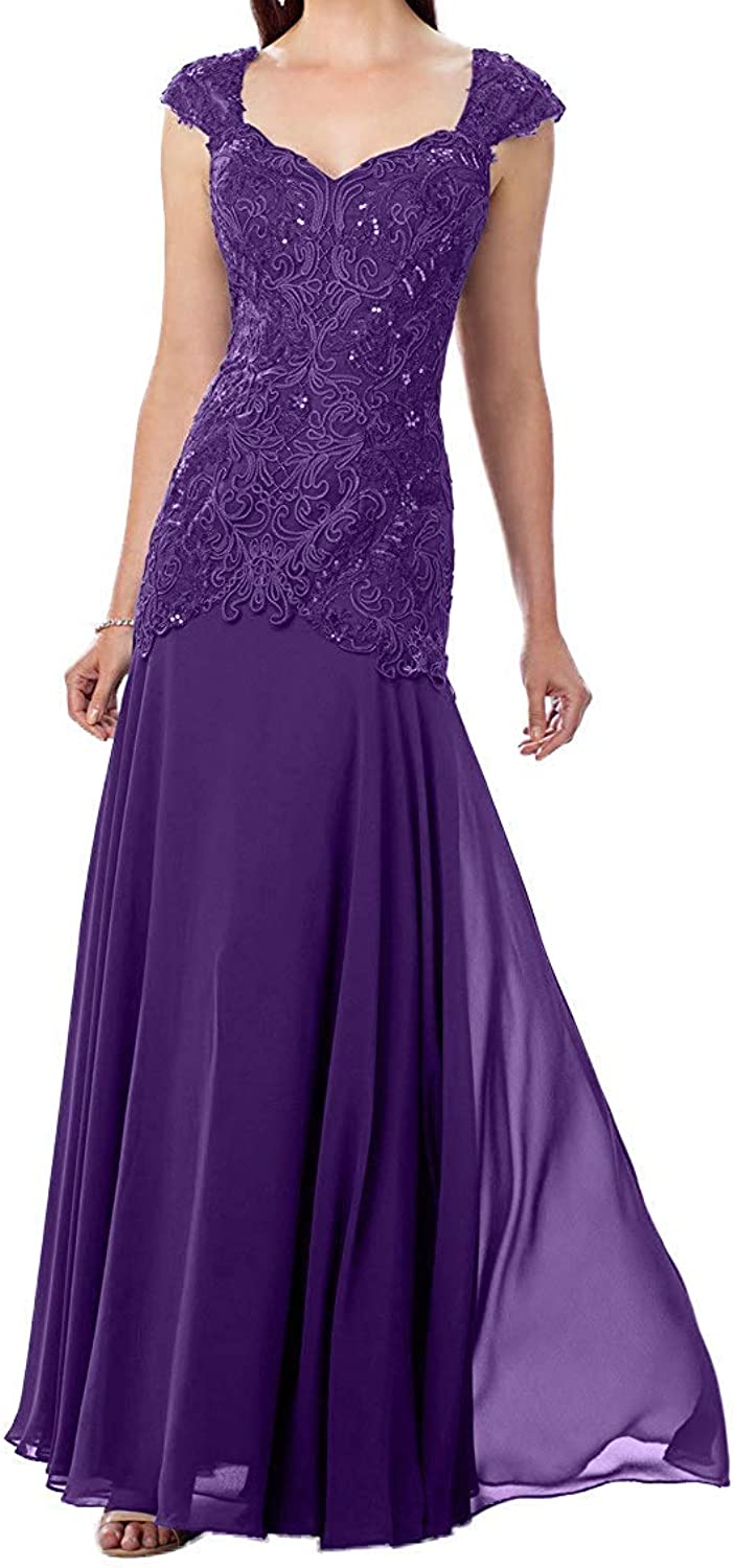 DressyMe Women's Wedding Dress Fit & Flare Spaghetti Straps Long Prom Gown