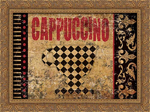 Hogan, Melody 24x17 Gold Ornate Framed Canvas Art Print Titled: Cappuccino Fantastico 2