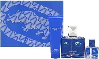 Marc Ecko Blue by Marc Ecko for Men 3 Piece Set Includes: 3.4 oz Eau de Toilette Spray + 3.0 oz Hair & Body Wash + 0.5 oz Eau de Toilette Spray