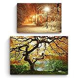 Startonight Leinwandbild | Natur|Ahornbaum und Winter im