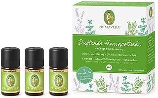 PRIMAVERA ätherische Öle Set Duftende Hausapotheke - Geschenkbox 3 x 5 ml Lavendel fein, Teebaum, Pfefferminze - Aromaöl, Duftöl, Aromatherapie, Geschenke - vegan