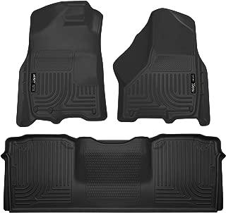 Husky Liners 99041 Black Weatherbeater Front & 2nd Seat Floor Liners Fits 2010-18 Dodge Ram 2500/3500 Mega Cab