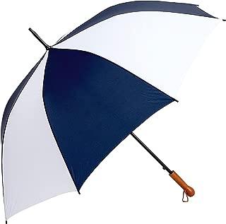 All-Weather GFUM60NWLT Elite Series Navy White Auto Open Golf Umbrella, 60