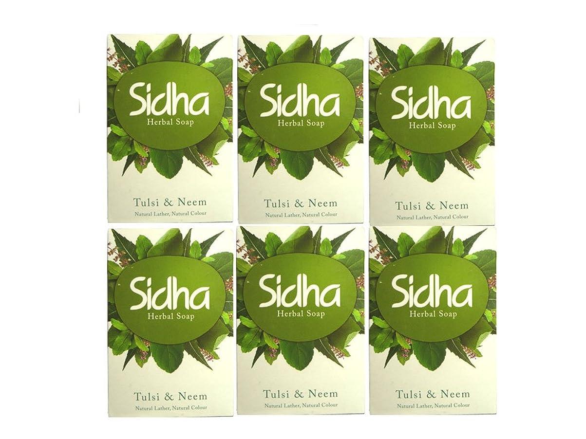ヒューバートハドソン楽しむ免疫SIHDH Herbal Soap Tulsi & Neem シダー ハ-バル ソープ 75g 6個セット