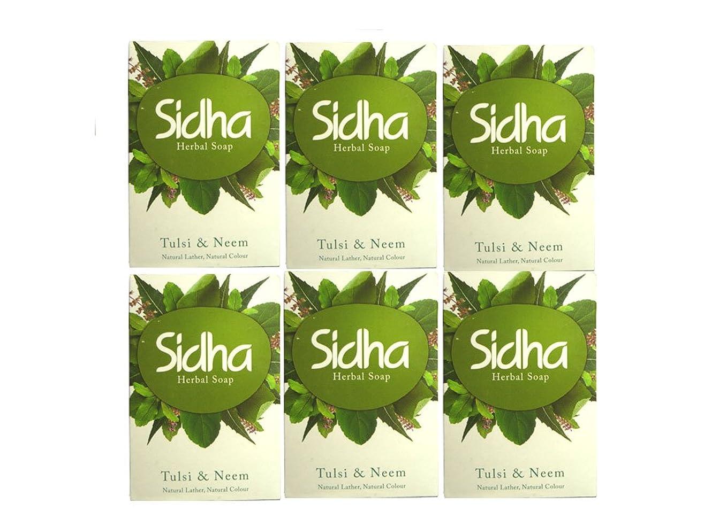 確実にはまって姪SIHDH Herbal Soap Tulsi & Neem シダー ハ-バル ソープ 75g 6個セット