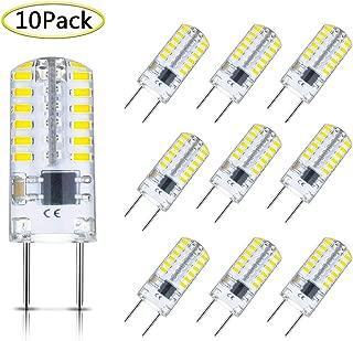 G8 LED Bulb Dimmable 3W T4 G8 Bulb Equivalent to G8 Halogen Bulb 20W-25W, Mini G8 Light Bulb Daylight White 6000K, Bi-Pin G8 Base, AC 110V/120V/130V (10 Pack)