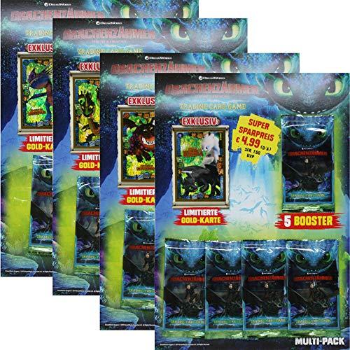 Dragons Trading Cards Serie 3 (2019) - Die geheime Welt - Alle 4 verschiedenen Multipacks