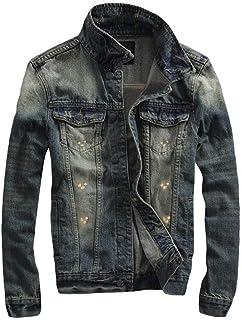 FOMANSH デニムジャケット メンズ gジャン 綿 ウォッシュ加工 大きいサイズ S-3XL カジュアル ジージャン アウター 春夏
