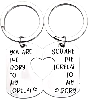 ENSIANTH Gilmore Girls Gift Mother Daughter Gift Sister Gift You are The Lorelai to My Rory Gilmore Girls Inspired Jewery Mother Daughter Keychain Set