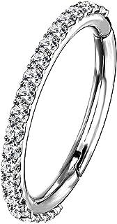 OUFER 16G Stainless Steel Cartilage Earrings Five Petal Clear CZ Flower Tragus Helix Earrings Cartilage Earring Stud