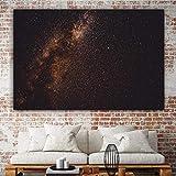 PLjVU Cartel Arte de la Pared Pintura de la Lona Espacio Oscuro Estrellas Astronomía Estrella Sala de Estar Decoración del hogar Imagen de la Pared-Sin marco50X75cm