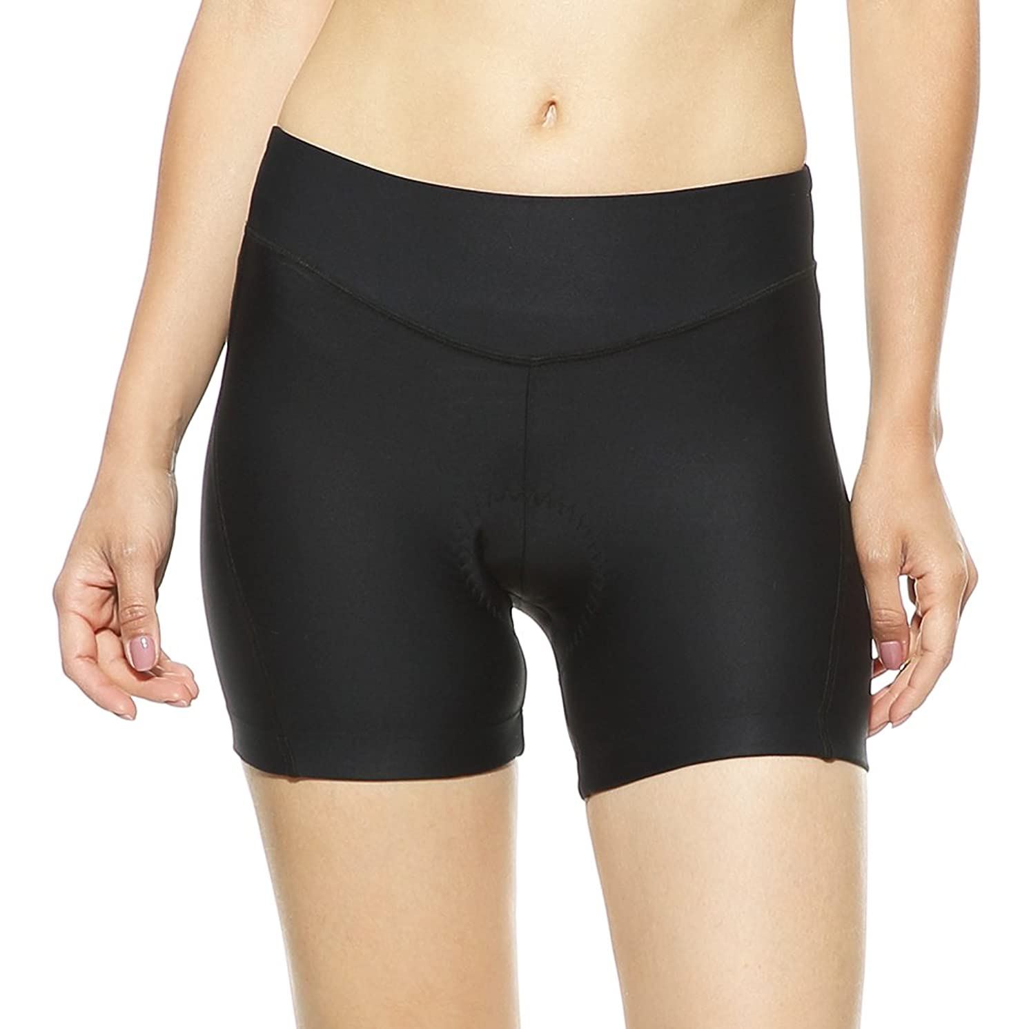 4ucycling Women's Cycling Spinning 3D Padded Brief Underwear Shorts Black