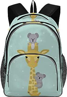 Mnsruu Torby szkolne dla nastoletnich dziewcząt chłopców college'u, błękitna żyrafa uroczy koala plecak torba podróżna ple...