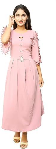 EMAYA Fashion Girl Casual WEAR Cotton Lycra Dress