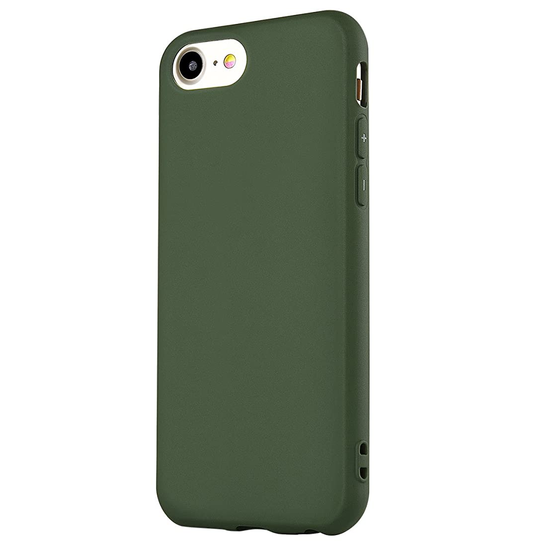 Manleno iPhone 7 Case, iPhone 8 Case Soft TPU Matte Cover Case for iPhone 7/8 4.7 Inch (Matte Dark Green)