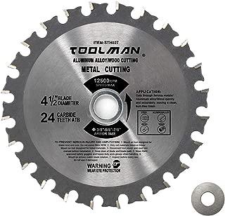 Lion Tools STH027 Toolman Premium Multifuncational Carbide-Tipped Circular Saw Blade Finish Blade Universal Fit 4-1/2