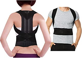 Back Brace for Men and Women- Hip& Waist Back Support- Adjustable Posture Corrector for Adults and Kids- Durable Clavicle and Shoulder Support Black (XXL)