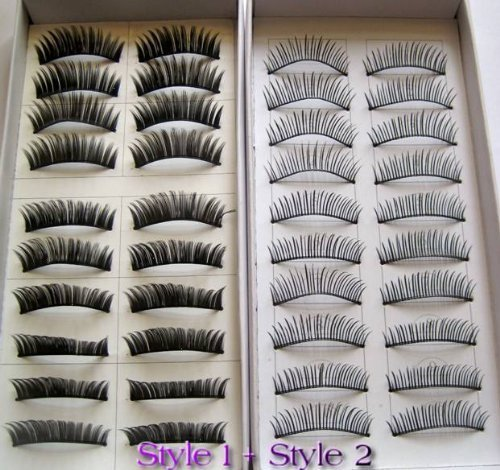 Absir MBox 20 Pairs Regular Long and Thick Eyelashes Style 1 and 2