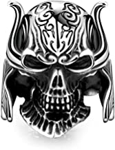 Spike domineering skull ring exaggerated retro ring jewelry personalized self-defense