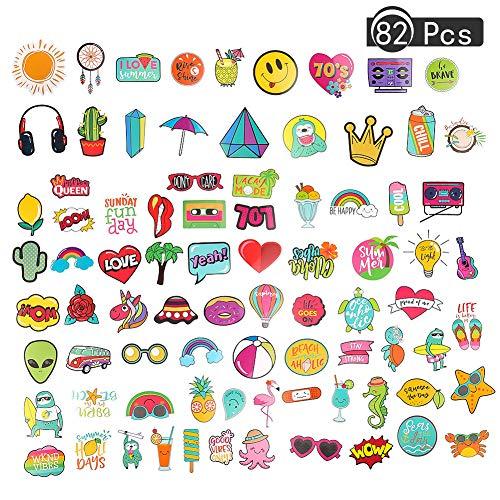 Thursday April 82 Piezas Cute Vsco Girls Stickers Set para Calcomanías de Graffiti Vinilos para Computadora Portátil Equipaje Automóviles Patinetas Motocicletas Calcomanías de Bicicletas