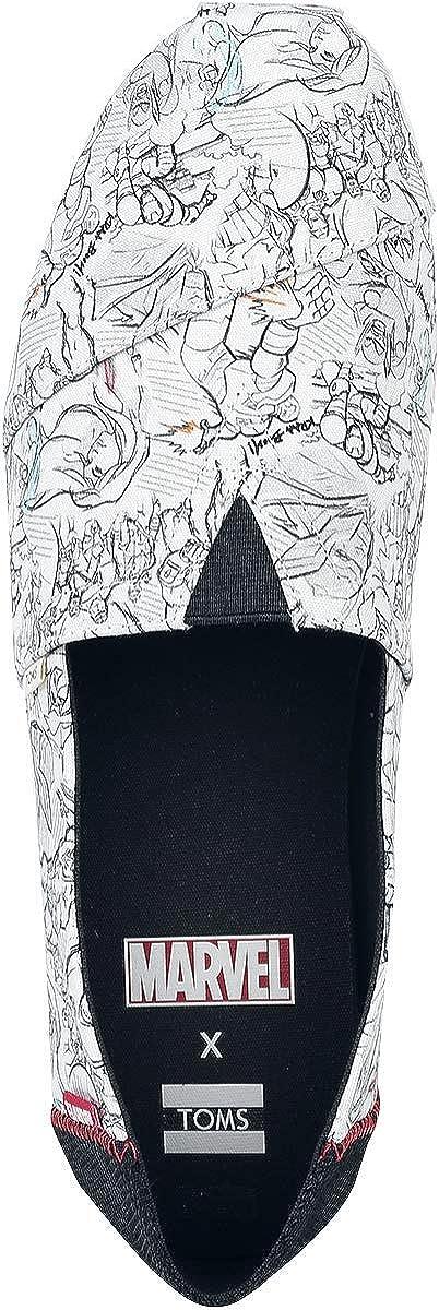 Toms 10000869, Alpargatas Mujer Impresión Artística de Marvel Con Maravilla Blanca