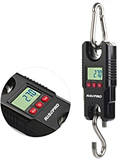 Hanging Scale 660Lb 300Kg, RISEPRO for Industrial, Farm, Hunting, Bow Draw Weight, Big Fish & Hoyer Lift with Accurate Sensor