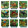 TEMI Dinosaur Toy Figure w/ Activity Play Mat & Trees, Educational Realistic Dinosaur Playset to Create a Dino World Including T-Rex, Triceratops, Velociraptor, Perfect Gifts for Kids, Boys & Girls #1