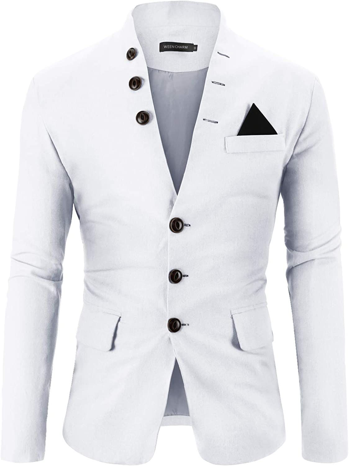 WEEN CHARM Mens Casual Slim Fit Button Collar Blazer Standing 3 Seattle Branded goods Mall