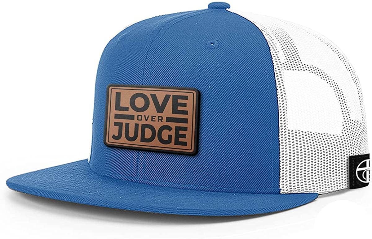 One True Sale item Popular shop is the lowest price challenge God Love Over Judge Back Patch Mesh Ha Flatbill Leather