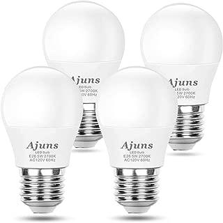 A15 LED Light Bulb 40W Equivalent Ceiling Fan Light Bulbs Dimmable 5W Warm White 2700K Energy-Saving Appliance Lighting E26 Base 4 Pack