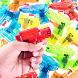 Super Z Outlet Mini Colorful Squirt Water Guns Plastic Blasters for Kids Birthday Party Favors, Pool Beach Toys, Hot...