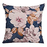 POPRY American Country Dicke Baumwolle Kissen Sofakissen Kissen dekorative Pflanze Blume Garten, 45...