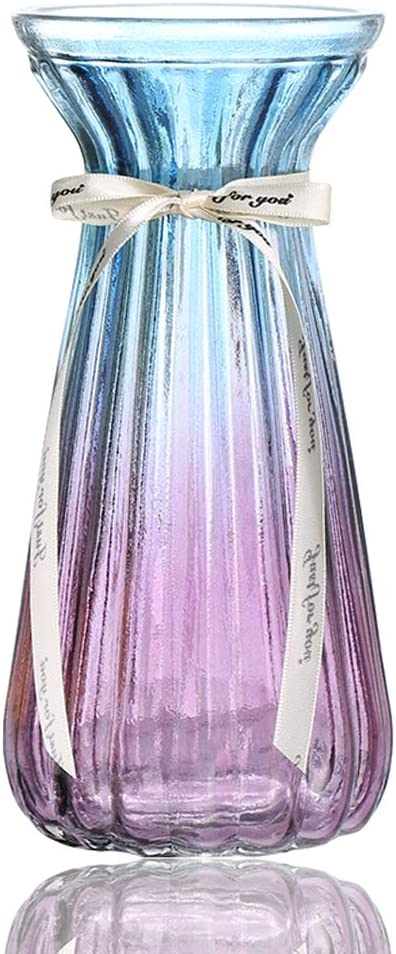 AmHome Ranking TOP9 Rome Retro Free Shipping Cheap Bargain Gift Glass Vase Particula Clear Gradient Multicolor
