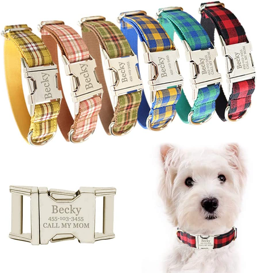 AnNengJing Personalized Limited price excellence Dog Collar with Plate Adjustable Name T