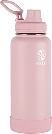 Takeya Actives Insulated Stainless Water Bottle with Insulated Spout Lid, 40oz, Blush