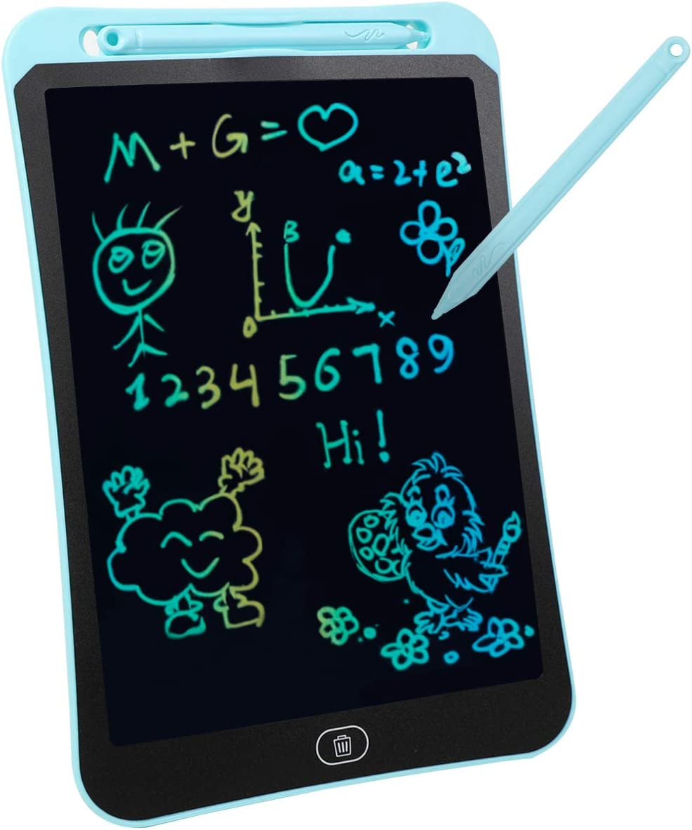 8.5 Inch Colorful Electronic Toddler Doodle Board Drawing Tablet Toys Gifts for for 2 3 4 5 6 Year Old Boys Girls 8.5in, Pink TOPSTHINK LCD Writing Tablet for Kids