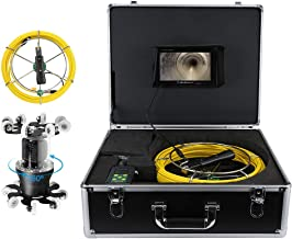 LCD Endoscopic Camera 7in 50M 360° Sewer Industrial Endoscopic IP68 38LED Inspection Drain Pipe Borescope Camera 100-240V AU