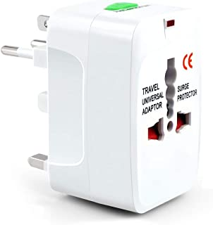 Universal Worldwide International Travel Adapter Plug (All in One -Supports Over 150 Countries Including US, AUS, NZ, Europe, UK) Surge Protector