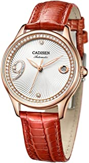 2018 New CADISEN Women Watch Automatic Leather Stainless Steel Couples Fashion Business Top Brand Luxury Waterproof Wristw...
