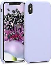 kwmobile Coque Compatible avec Apple iPhone X - Coque Étui Silicone - Housse de téléphone Violet Pastel