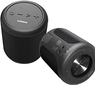 xdobo Draco Mini ブルートゥーススピーカー 35時間再生 コンパクト 大音量 重低音 防水 Bluetoothスピーカー スマホスピーカー TWS 2台同時 ワイヤレススピーカー スマートフォンスピーカー (ブラック)