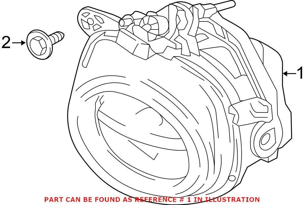 Genuine OEM Front Driver Left Fog Light NEW before selling ☆ online shop BMW For LED F15 F25 F16
