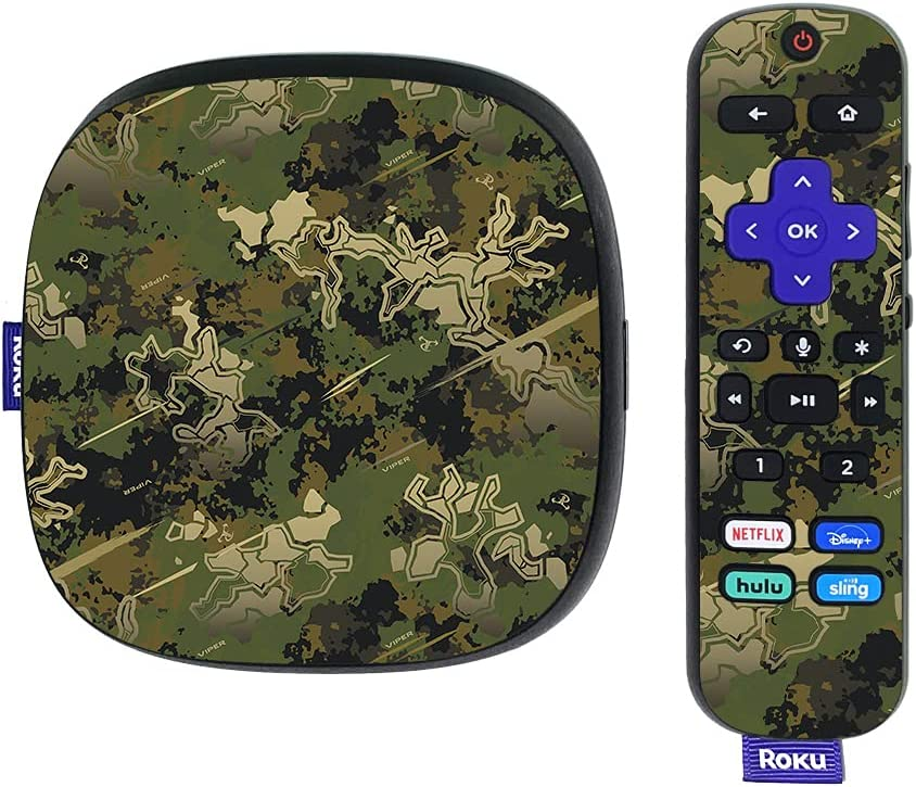MightySkins Skin Compatible with Roku Ultra HDR 4K Streaming Media Player (2020) - Viper Woodland | Protective, Durable, and Unique Vinyl Decal wrap Cover | Easy to Apply | Made in The USA