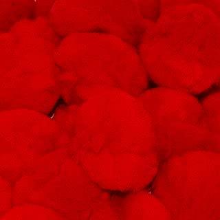 2 Inch Red Craft Pom Poms 25 Pieces