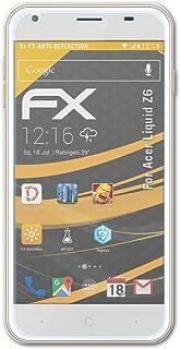 atFoliX Skärmskydd är kompatibel med Acer Liquid Z6 Skyddsfilm, antireflekterande och stötdämpande FX Film (3X)