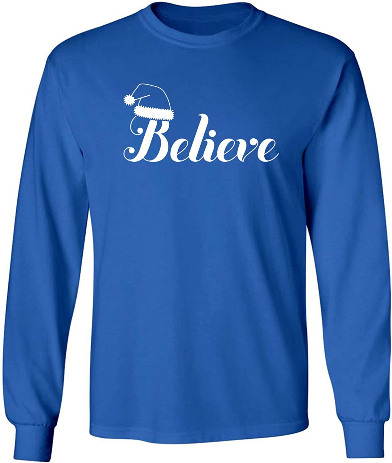 Believe Adult Long Sleeve T-Shirt in Royal - XXX-Large