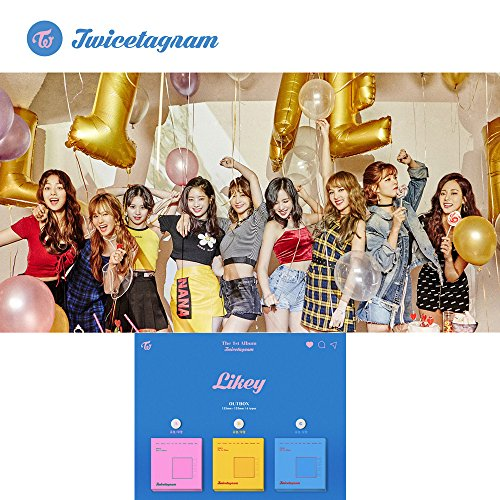 1ST Album TWICE KPOP Vol.1 [Twicetagram] CD + Photo Book + Photo Card + Cover Sticker